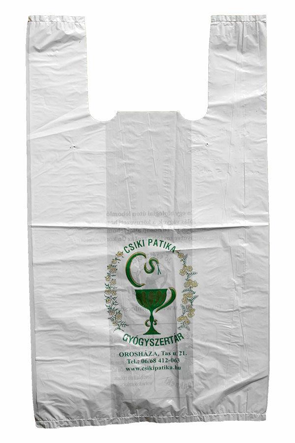 Biológiai úton lebomló műanyag táskák egyedi grafikával